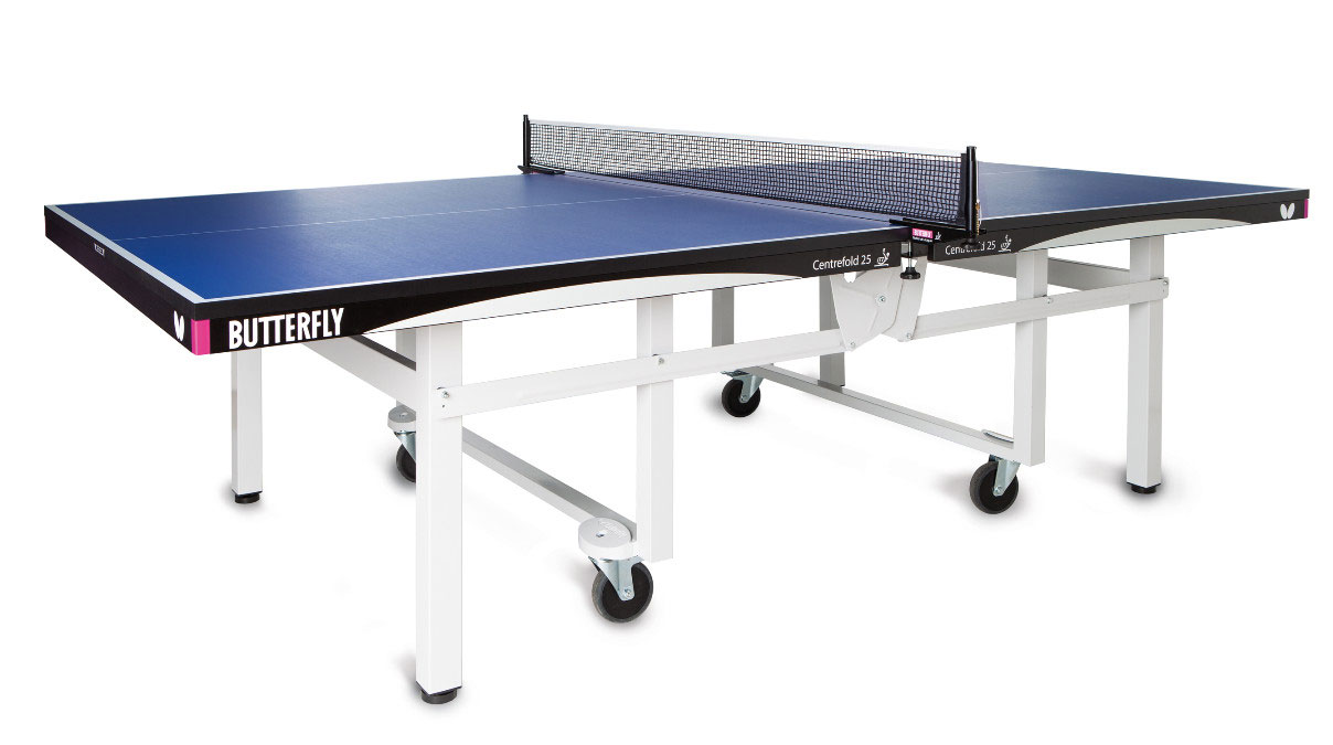 Butterfly centrefold 25 ping pong table for Table ping pong