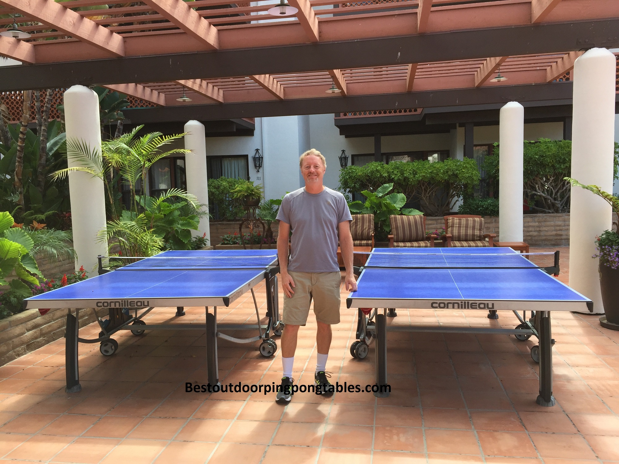 Cornilleau 500m crossover outdoor ping pong table - Table ping pong decathlon outdoor 500 ...