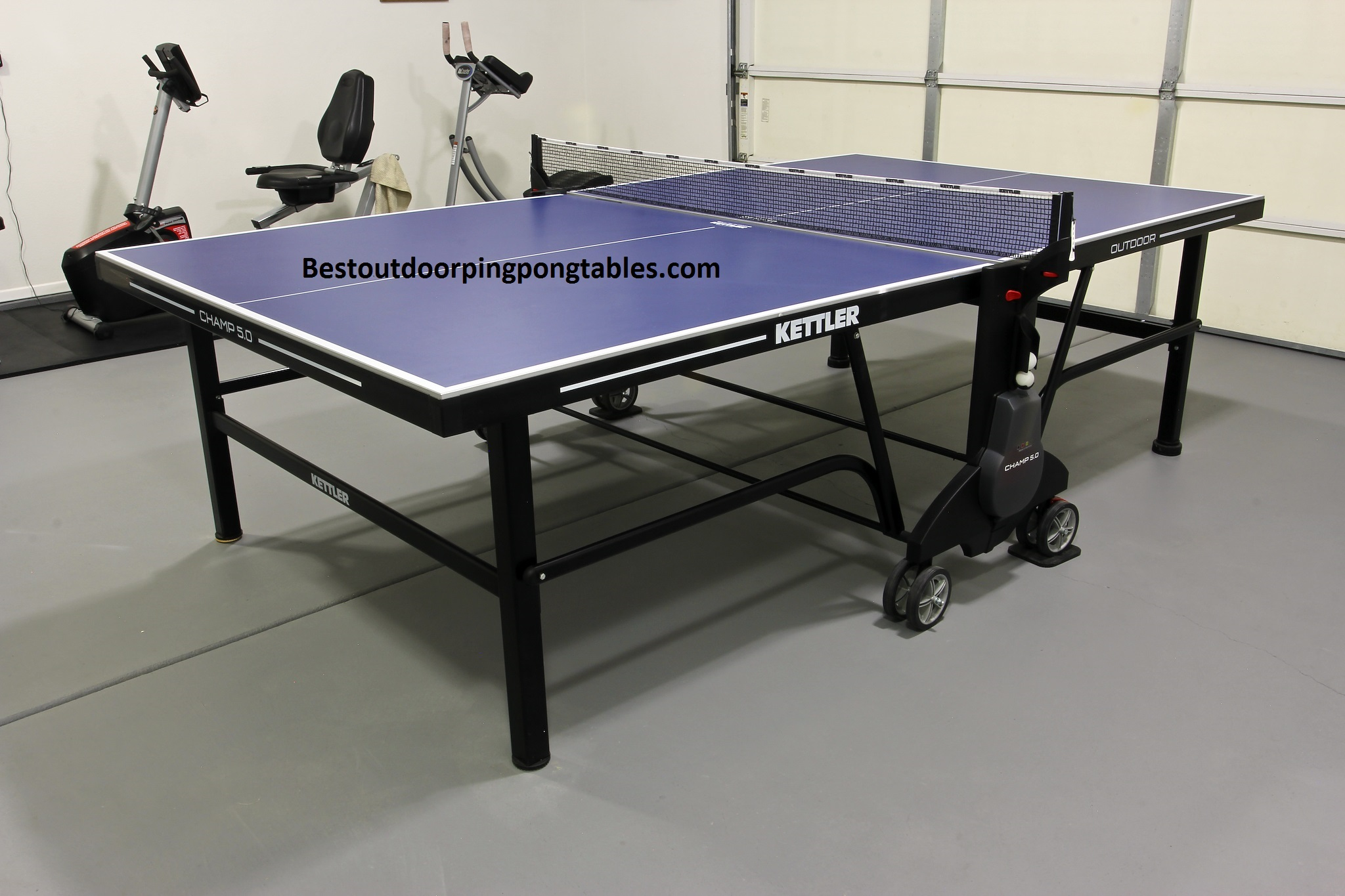 Kettler champ 5 0 outdoor ping pong table for Table kettler