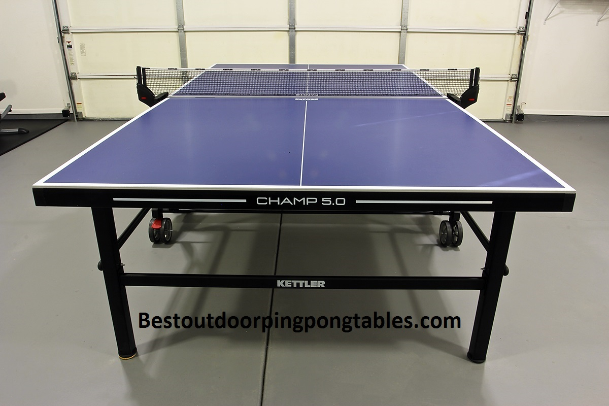 Kettler champ 5 0 outdoor bundled w cover 2 outdoor for Table ping pong