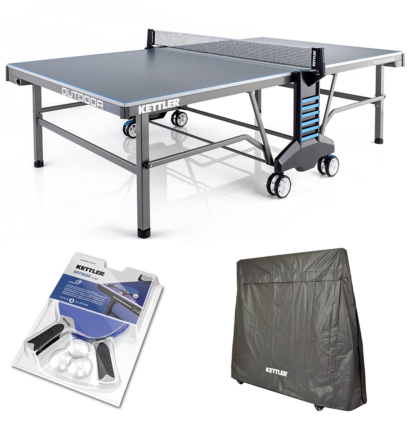 Kettler 10 Outdoor Bundled W Cover 4 Outdoor Paddles And Balls
