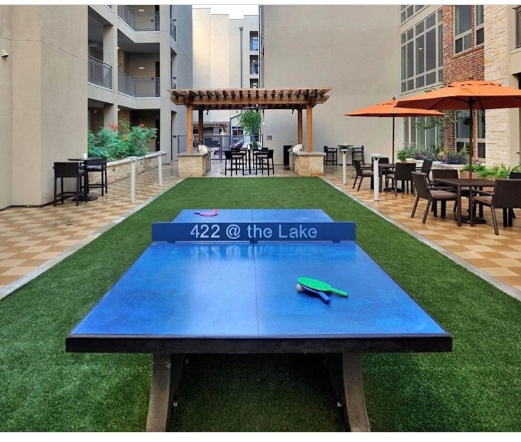 concrete ping pong table texas apartment community