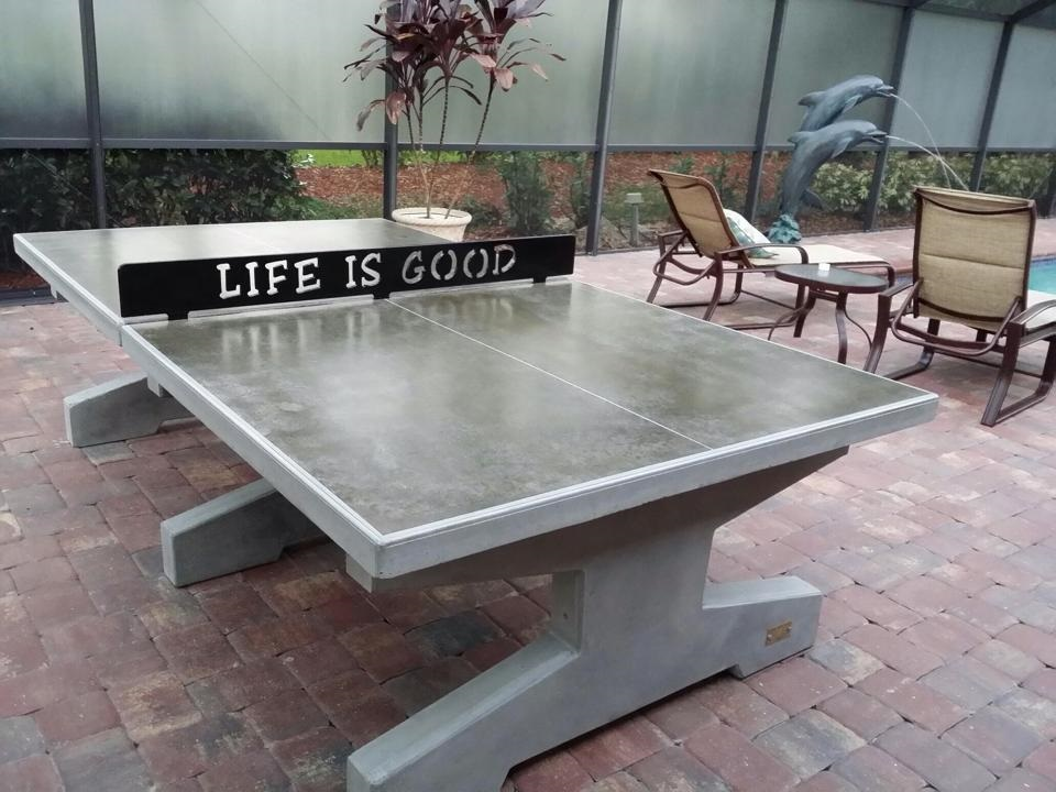 concrete ping pong tables. Black Bedroom Furniture Sets. Home Design Ideas