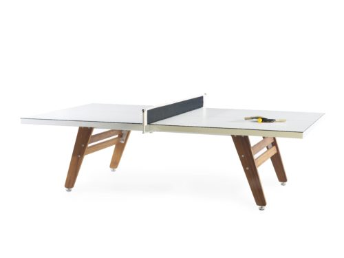 RS Barcelona White Stationary Ping Pong Table