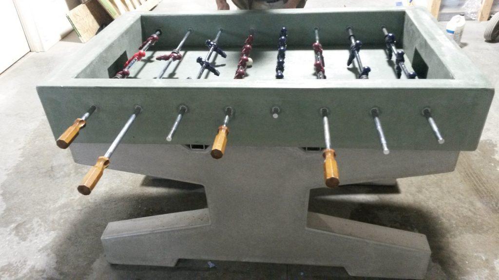 Concrete Foosball Table Weatherproof Foosball Tables