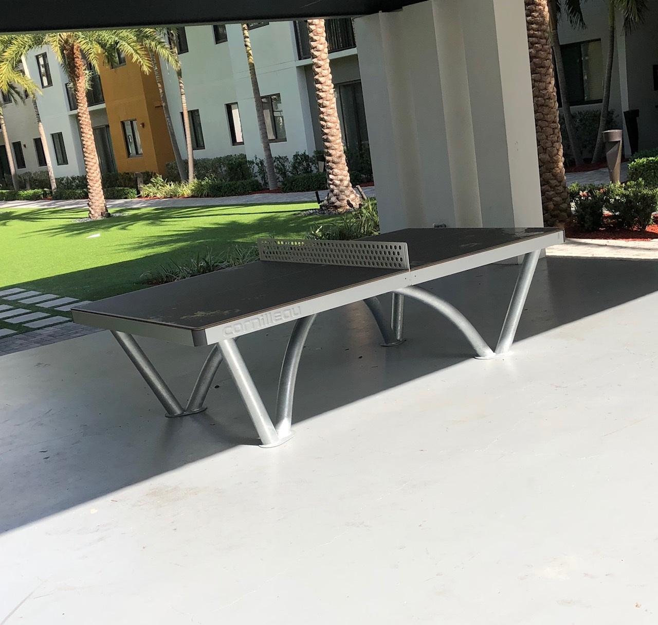 university park apartments florida ping pong table