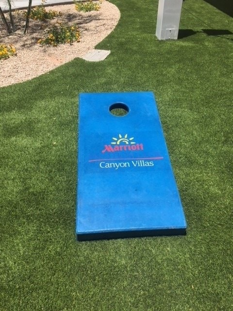 concrete corn hole boards Marriott
