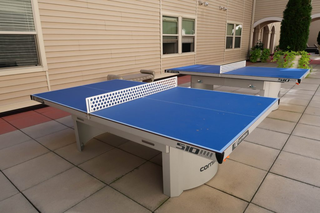 stationary ping pong table student housing