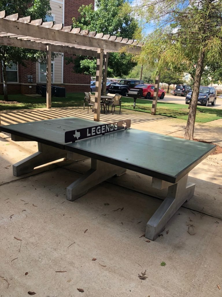 concrete ping pong table multifamily property