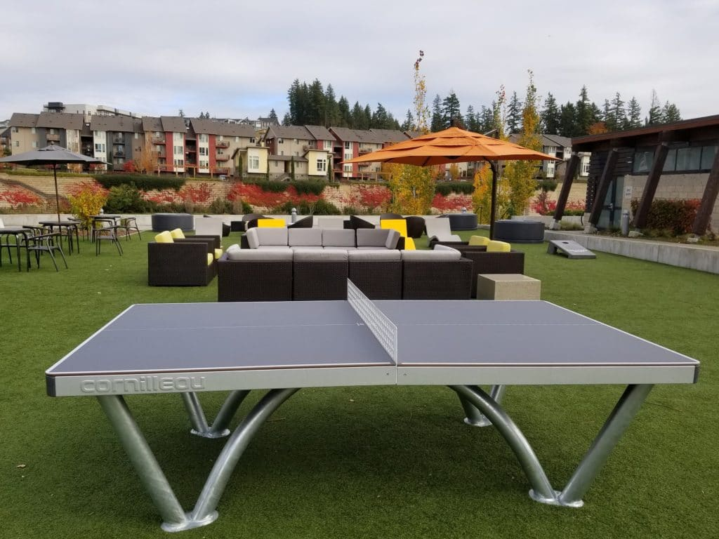 ping pong table apartment complex