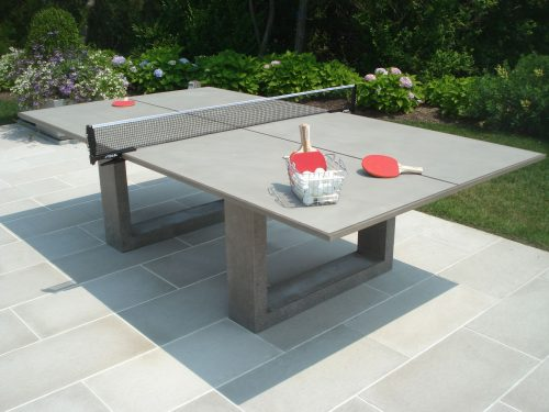 James de Wulf concrete ping pong dining table