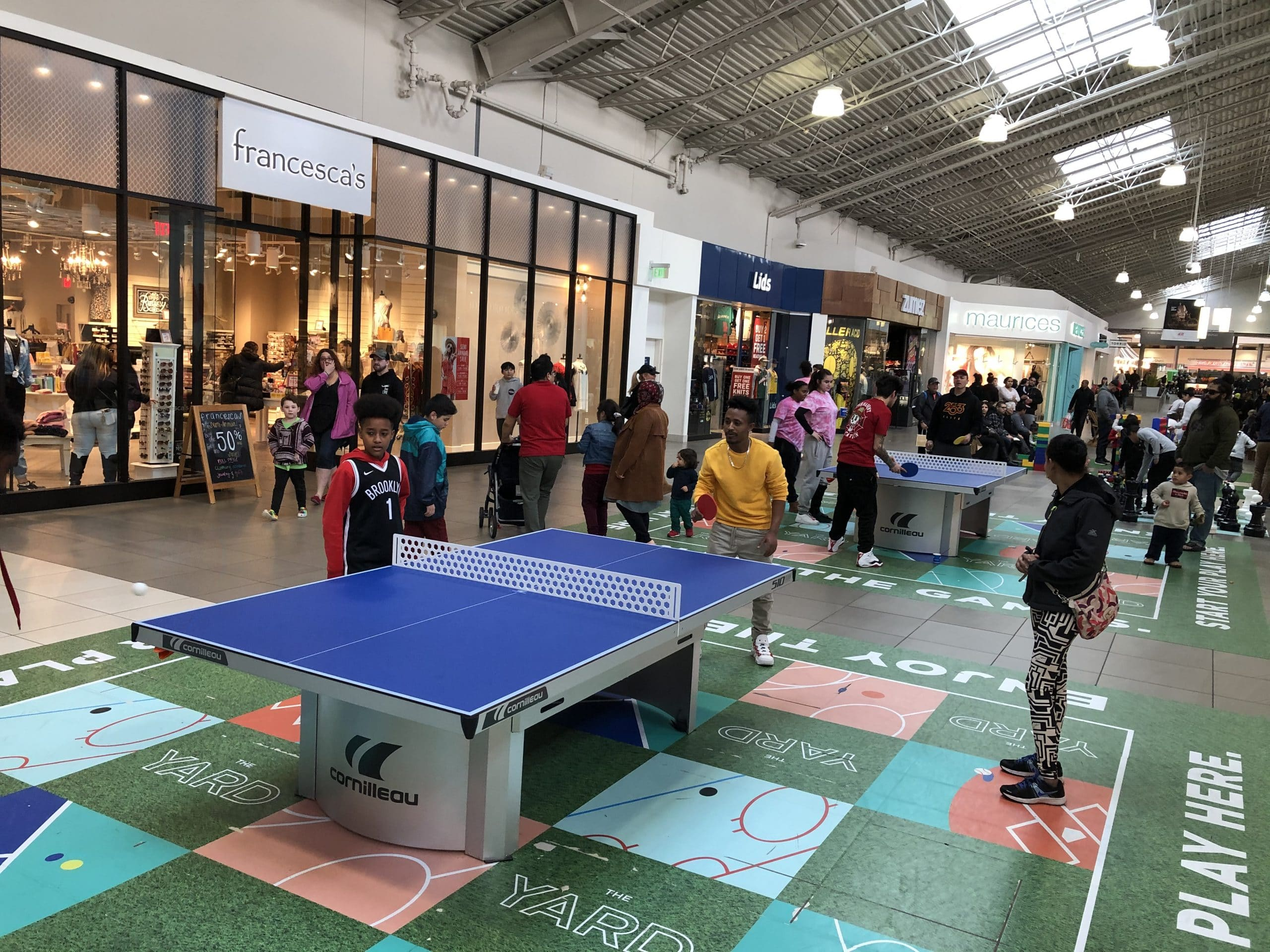 cornilleau 510 stationary ping pong table outlet mall seattle washington