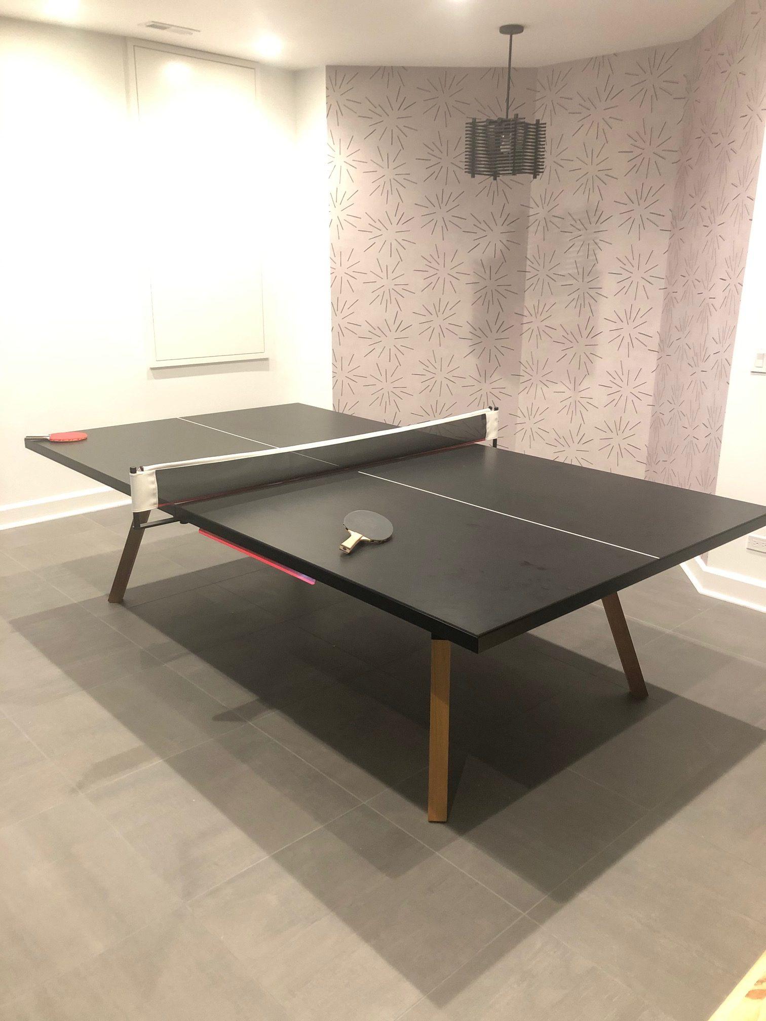 RS Barcelona You and Me black ping pong table